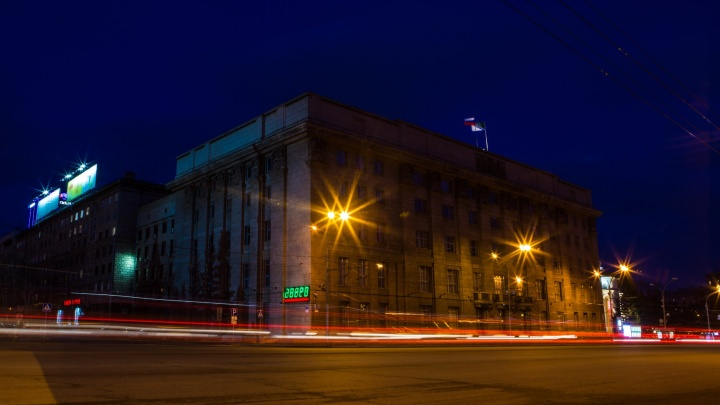 Погасла подсветка на зданиях мэрии и правительства