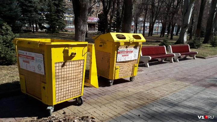 В Волгограде мусорный бак с собственным инстаграмом переселят на новое место