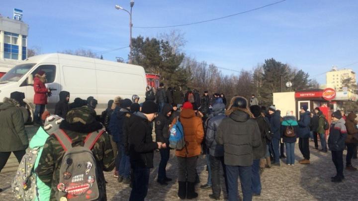 В Уфе на митинг вышли сторонники Алексея Навального — онлайн-трансляция (завершена)