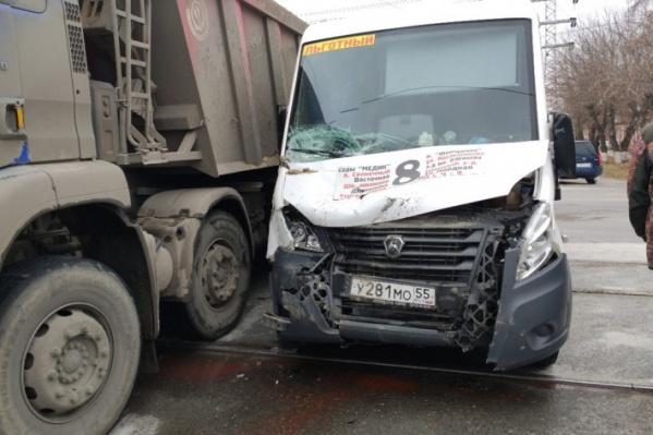 Во время аварии в маршрутке был только один пассажир