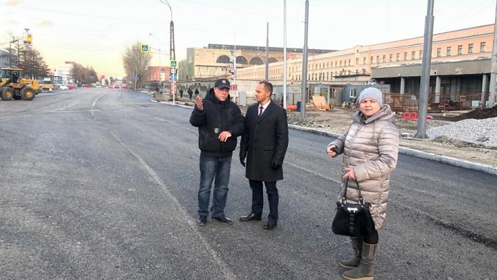 Бордюры доделают потом: смотрим, как выглядит перекресток на Эльмаше, где закопали подземный переход