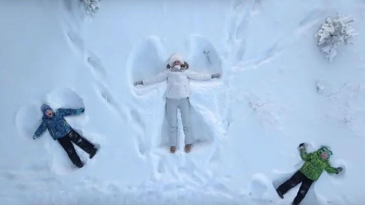 Зимняя сказка на Яграх: северодвинец показал заснеженный остров с высоты птичьего полета