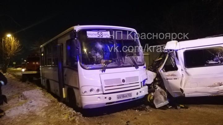 «ГАЗель» вылетела на встречку и сложилась об автобус с 26 пассажирами