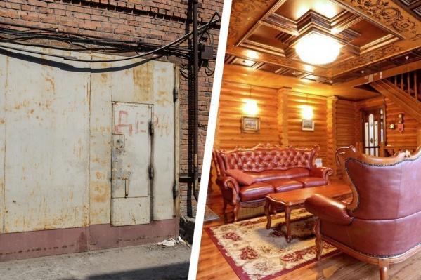 За ржавыми воротами гаражей можно найти вполне уютное жилище, а не просто «стойло» для машины