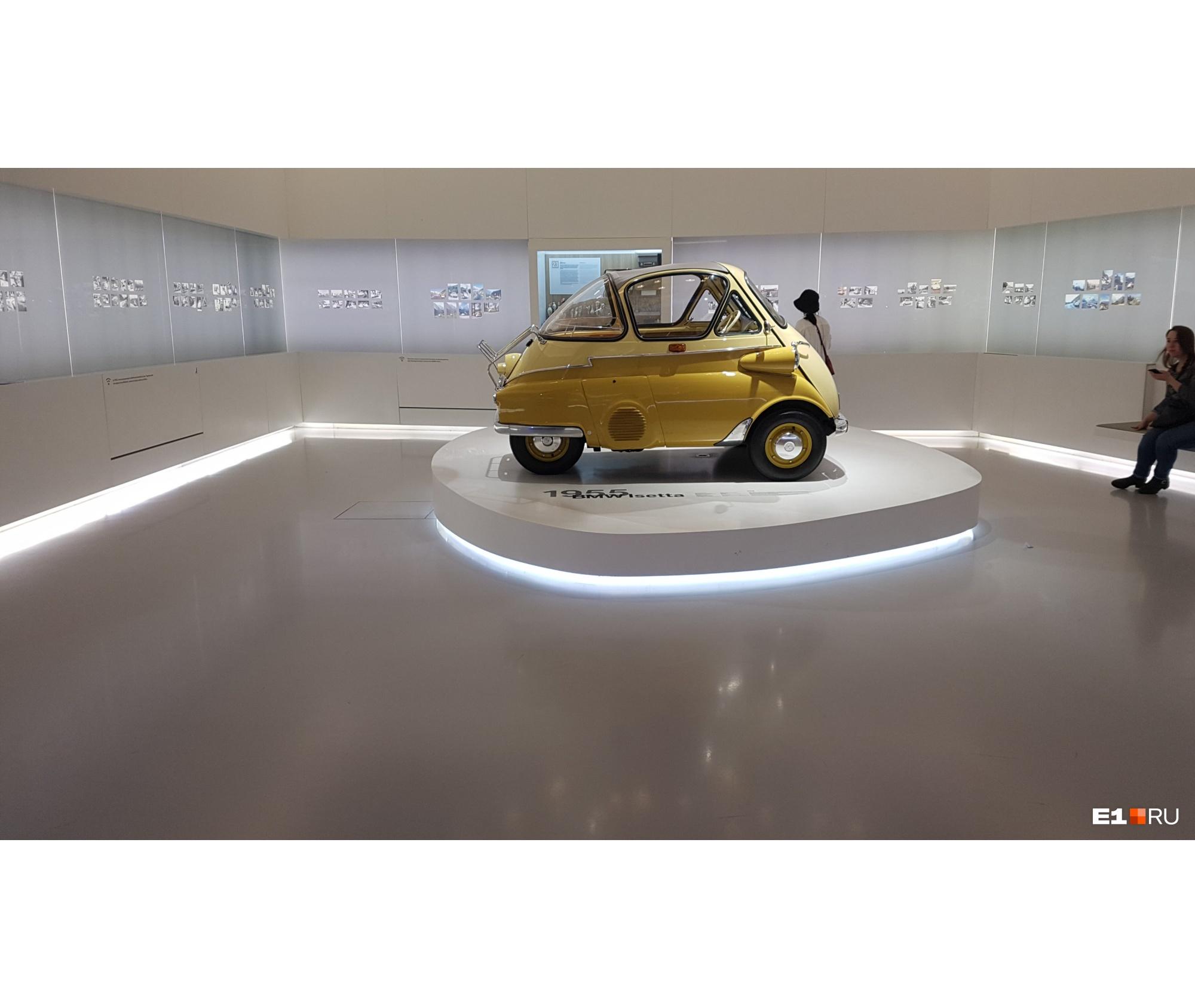 Даже в Музее BMW в Мюнхене есть только четырёхколёсная Isetta
