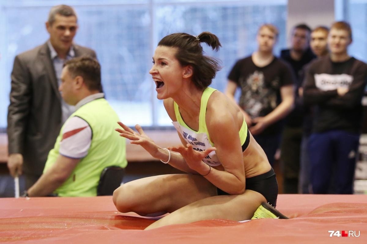 Анна Чичерова не смогла сдержать эмоций, взяв новую высоту
