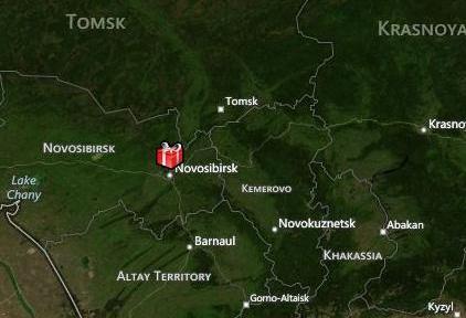 Санта-Клаус пролетел над Новосибирском