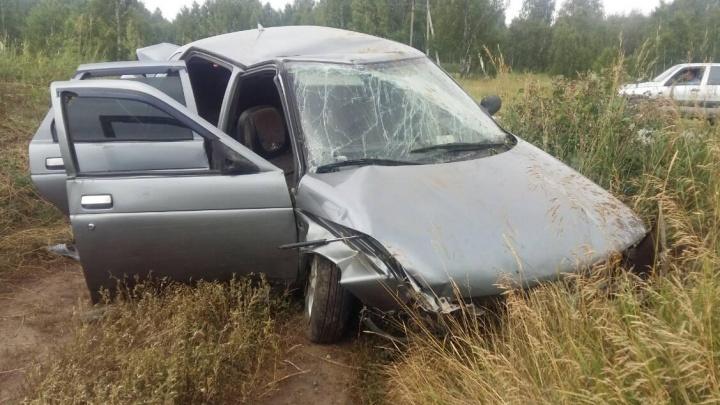 Пьяный водитель в Кетовском районе съехал в кювет. Пострадала пассажир
