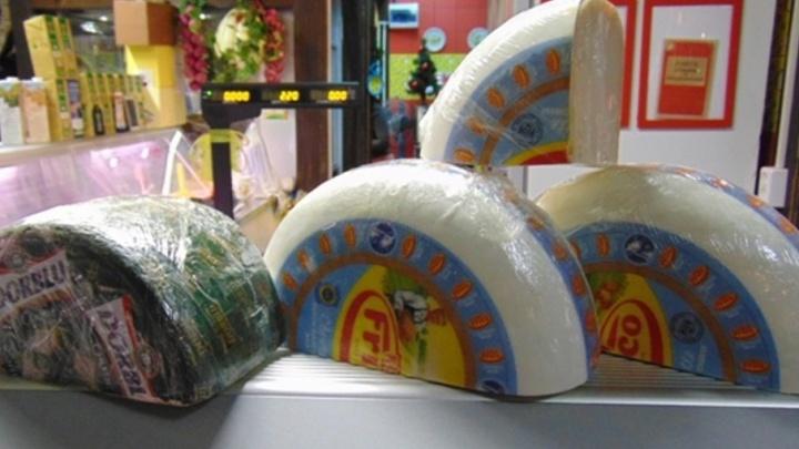 В Уфе под каток пустили шесть килограммов санкционного сыра