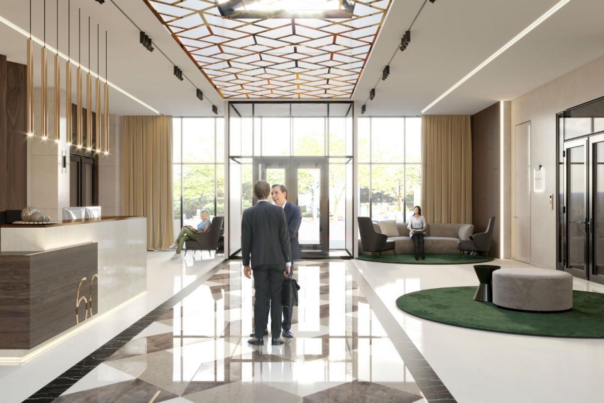 В вестибюле можно даже провести встречу