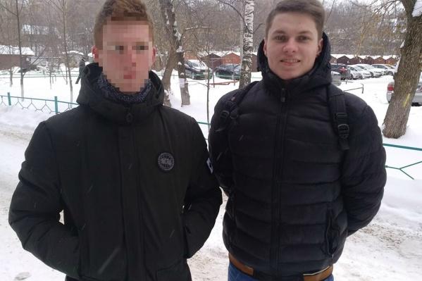 Данила В. (ему всего 17 лет) и Александр Шабарчин (на фото справа) допрошены по делу манекена с лицом президента