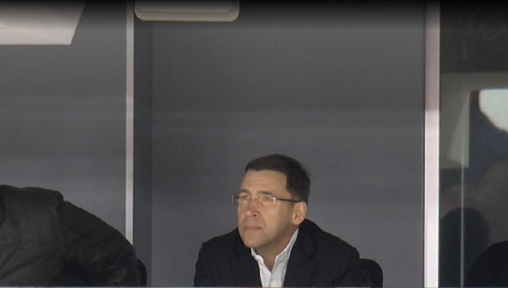 На матче присутствовал губернатор Свердловской области Евгений Куйвашев