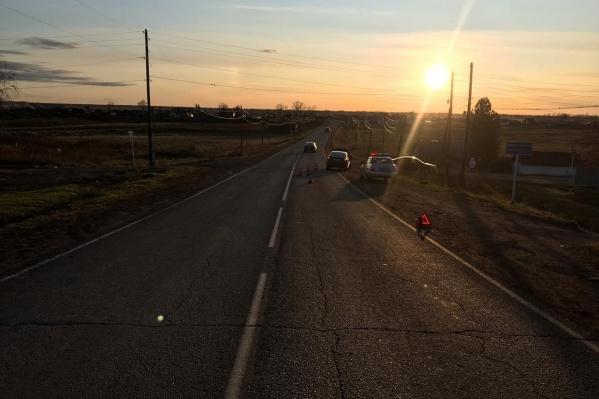 Авария произошла в селе Рыбное