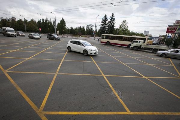 Новая разметка запретит выезд на перекресток при заторе