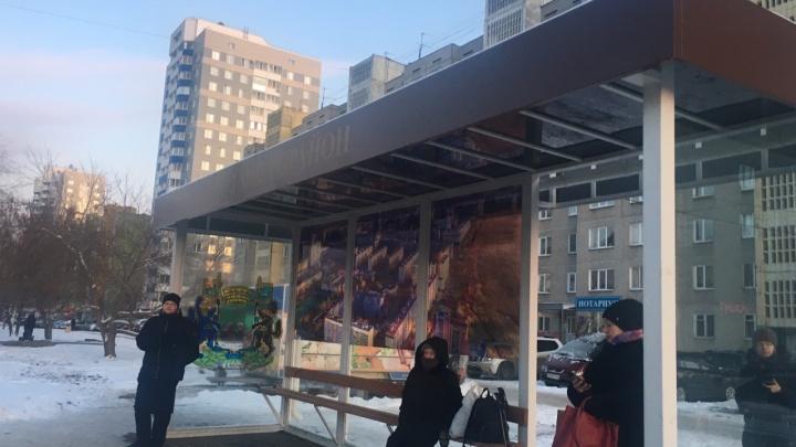В Заозёрном установили новые автобусные остановки