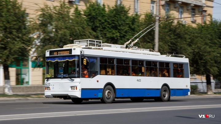 В Волгограде троллейбусы №10А с апреля будут ходить на час дольше