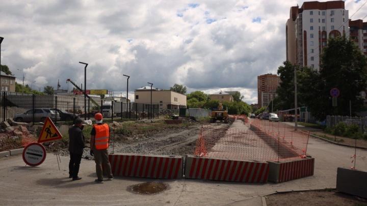 Улицу Обскую закрыли на два месяца из-за ремонта теплотрассы