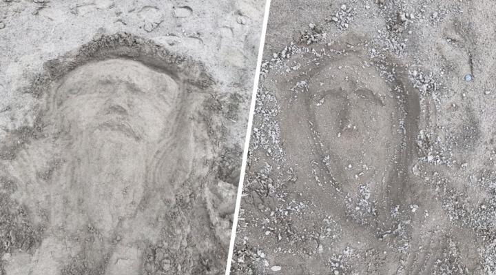 «Посмотрите в эти лица и подумайте»: художник изобразил на песке лики наркоманов