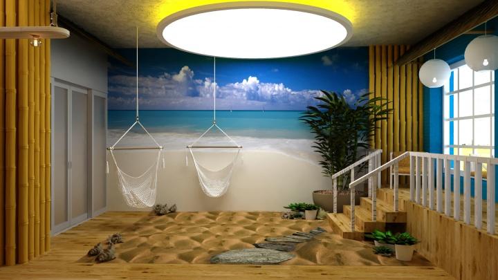 Тюменские дизайнеры воссоздали райский остров в городе