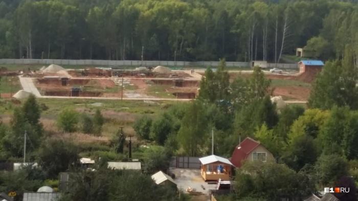 Место, где будут строить телебашню
