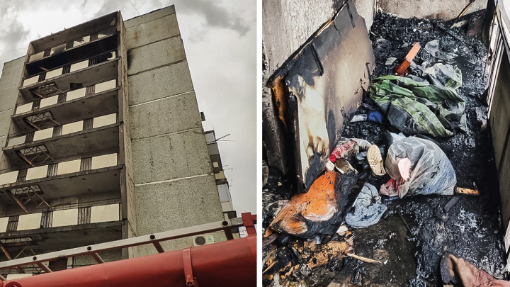 Омские пожарные спасли бабушку, которая не хотела открывать им дверь