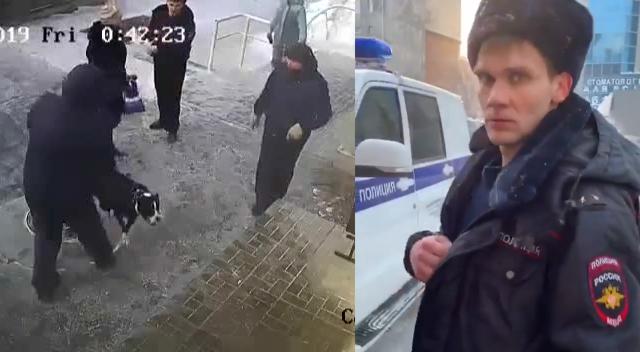 Покусали за руку: появилось еще одно видео драки полицейского и семьи с бойцовой собакой