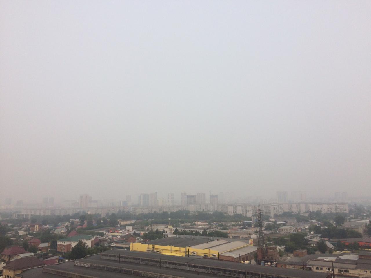 Плотный смог висит над городом уже пять дней