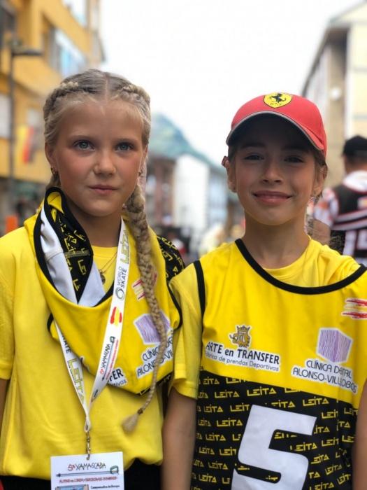 Антонина Ершова (слева) иДарья Ворошилова (справа) заняли призовые места