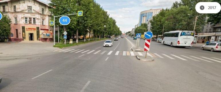 Перекрёсток, на котором случилась авария