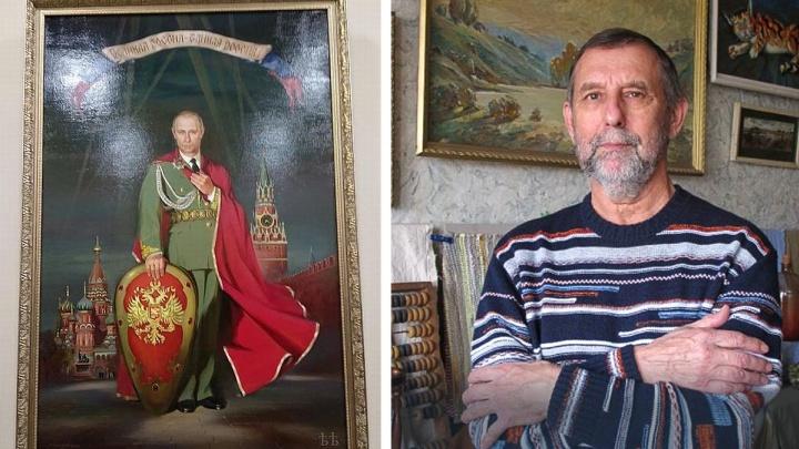 Больше 1,5 миллиона рублей просит за портрет Путина ростовский художник Рафаэль Лукьянов