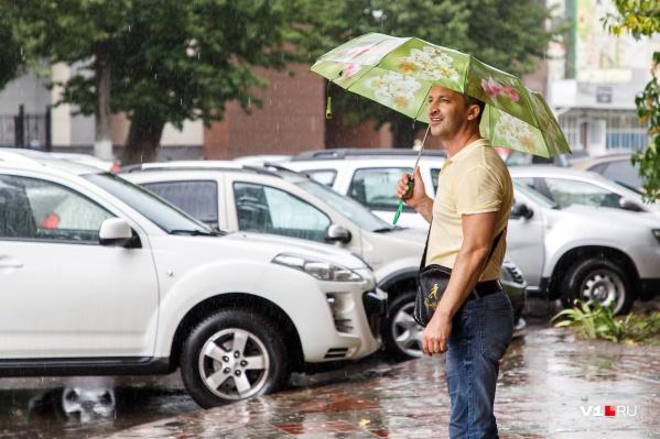 На всякий случай волгоградцам стоит взять на работу зонтики