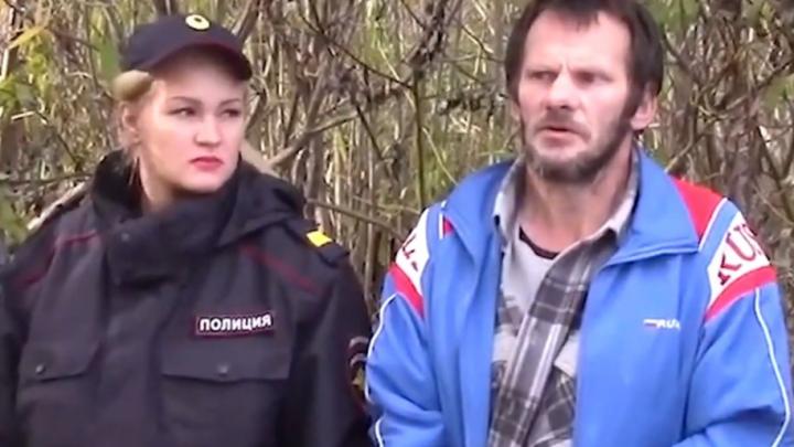 Видео, на котором архангельский каннибал признается, куда выкинул части тел жертв