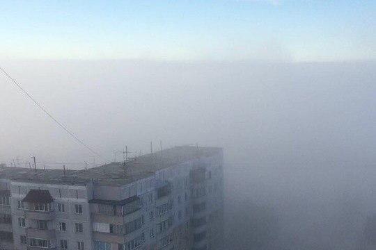 Дым над Ключ-Камышенским плато.Фото Анастасии Семёновой