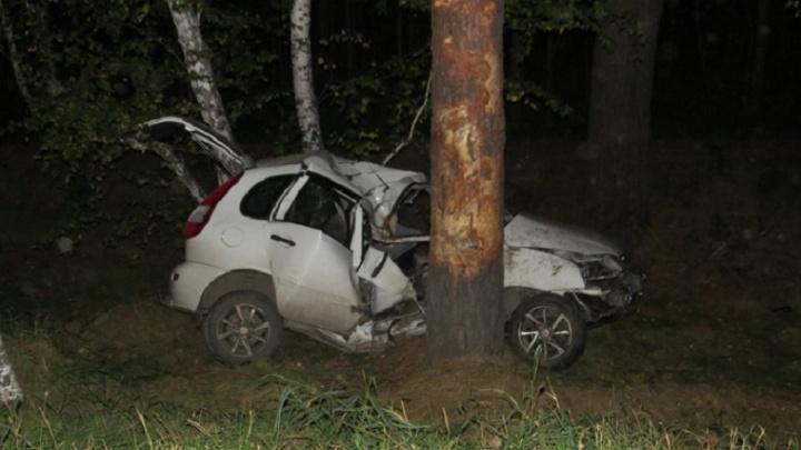 В Курганской области пьяный водитель без прав врезался в дерево