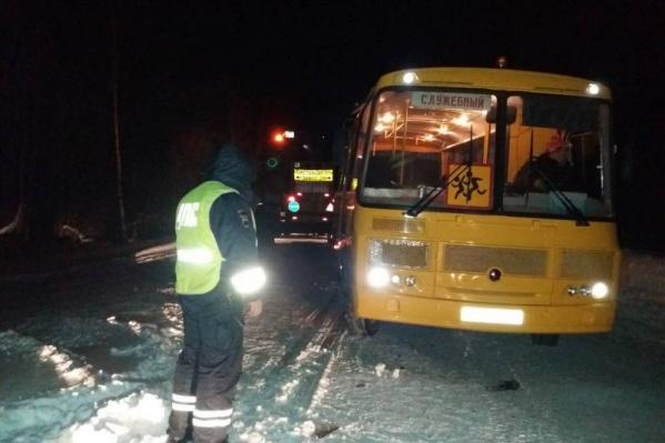 В одном из автобусов, угодивших в аварию, были дети