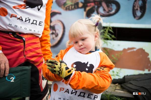Сейчас Кристине четыре года, впервые на мотоцикл она села год назад