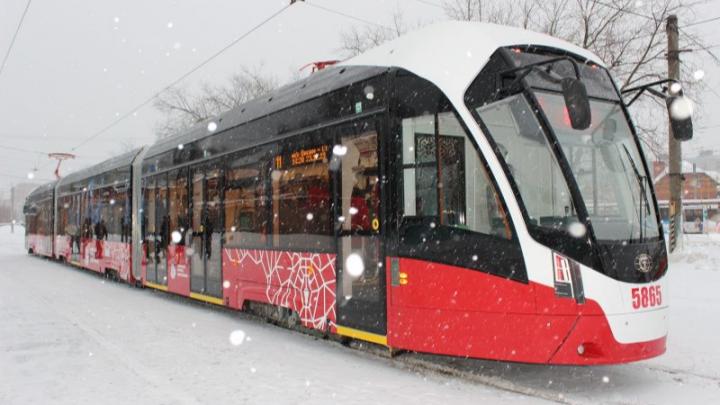 Пермяки смогут ездить бесплатно в трамваях «Лев» и «Львенок» до 8 января