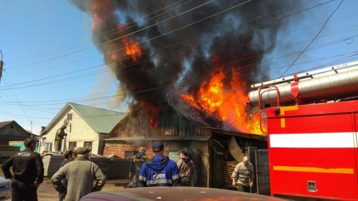В Стерлитамаке сгорела мастерская