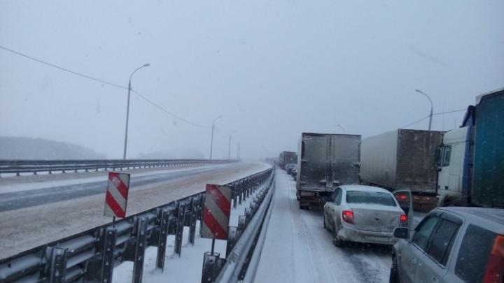 На трассе в Самарской области сняли ограничения для движения транспорта