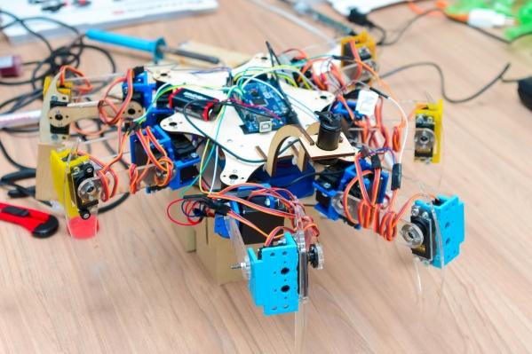 Сейчас робот запрограммирован для минимального перемещения — немного вперёд и назад