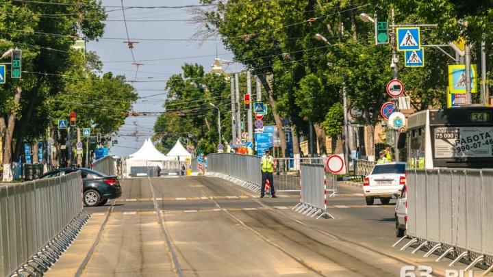 Дороги возле площади Куйбышева оставят перекрытыми до конца июля