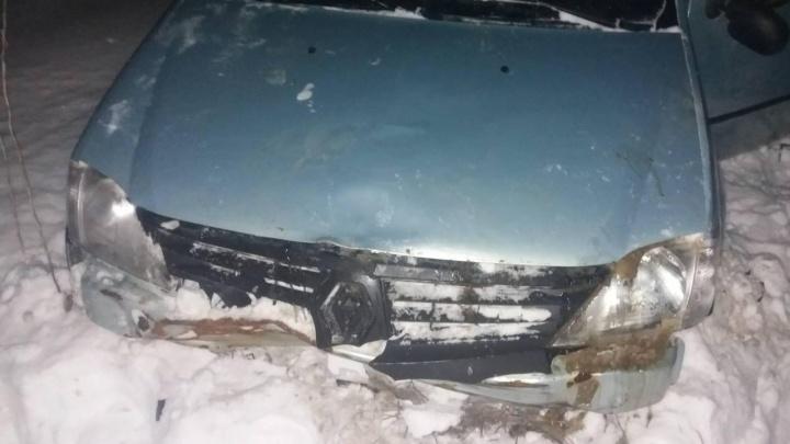 Водитель был пьян: Renault опрокинулся в кювет на трассе в Самарской области