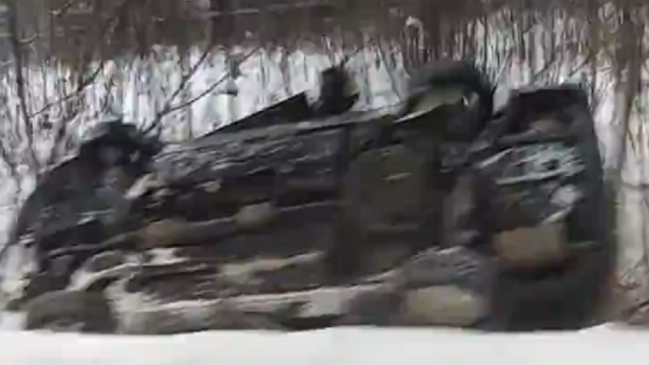 В Ярославской области девушка за рулём иномарки улетела в кювет