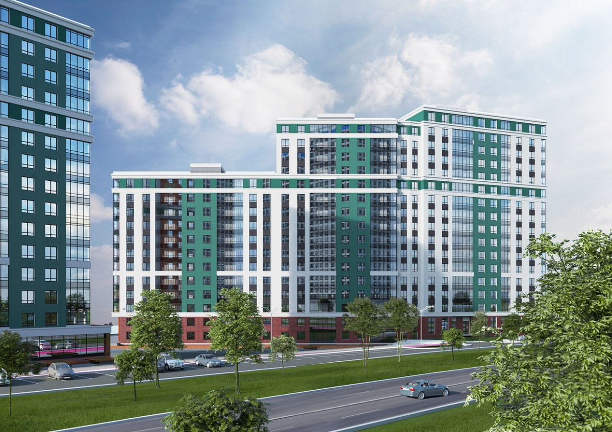Вместо стандартных окон 1,5*1,5 м в «Сказах Бажова» запроектированы окна увеличенного размера 1,7*1,8 м. На верхних этажах окна панорамные — 1,7*2 м