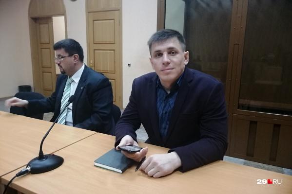 Андрей Боровиков в зале суда
