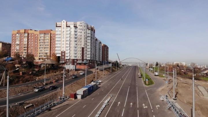 Показываем с высоты, как выглядит новая развязка на Волочаевской