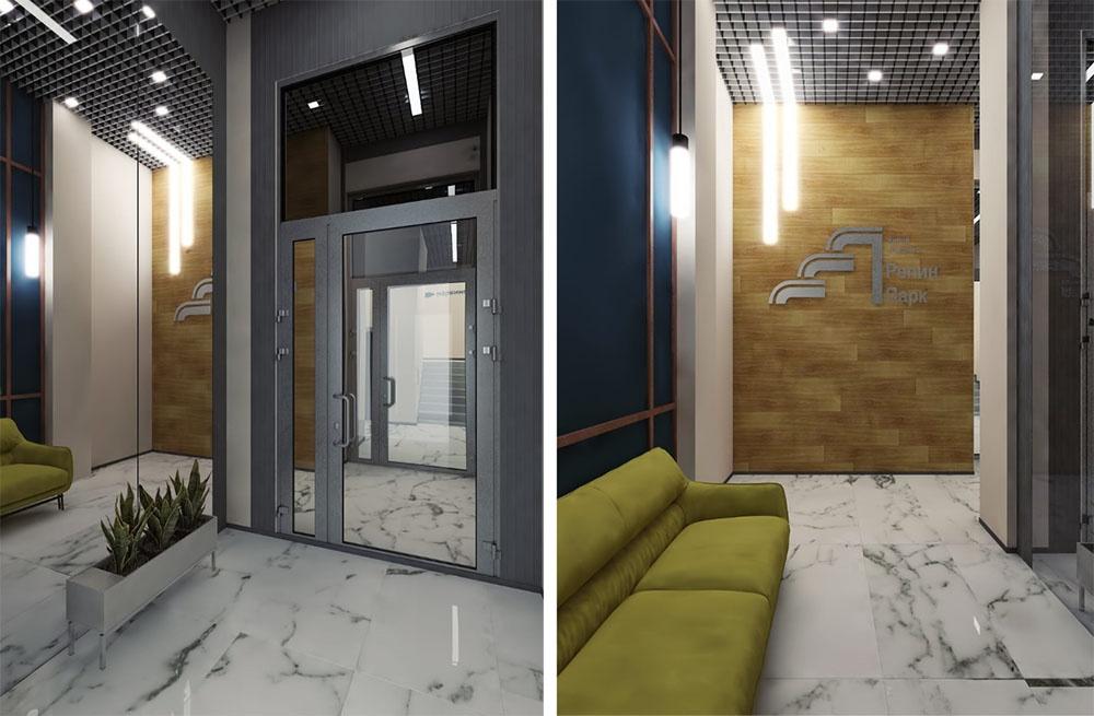 В холлах домов будут зоны отдыха, где можно провести встречу или встретить курьера
