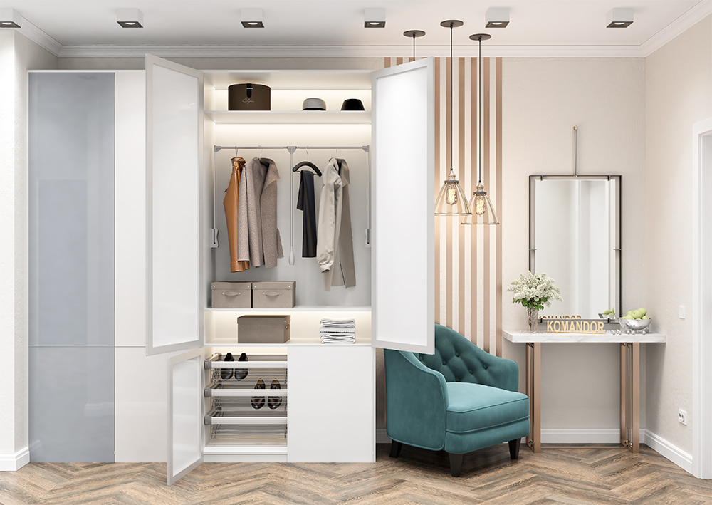 Мебель по индивидуальным проектам: распашные шкафы