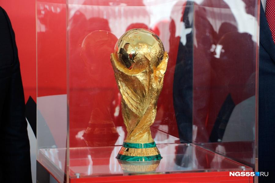 Кубок чемпионата мира пофутболу впервый раз вистории прибывает вОмск