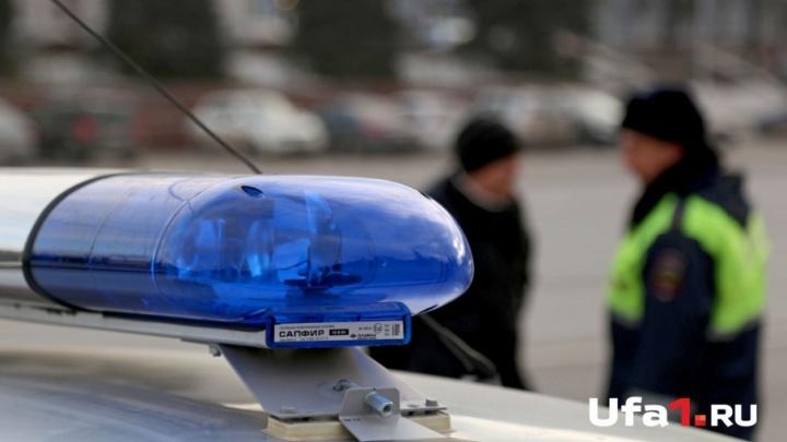 В Уфе машина сбила женщину: момент ДТП попал на видео